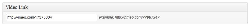 Vimeo video link metabox